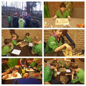 welpen aan het schaken