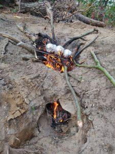 Scouting Impeesa verkenners primitief koken