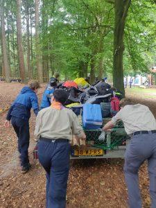 Scouting Impeesa Amersfoort LSW troep duwen