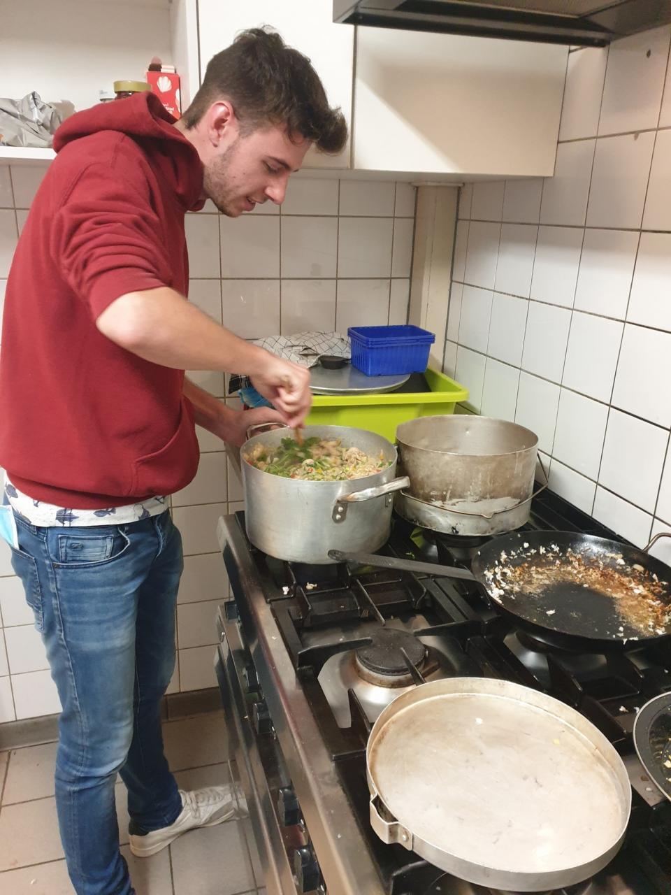 Rowans maken risotto